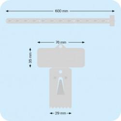 Bracelet élastique 20 mm. le sachet de 1 kg