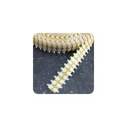Pastille auto-agrippante  13 mm  en rouleau blanc