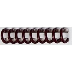 Reliure spirale plastique A4 bordeaux