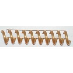 Reliure spirale plastique A 4 or
