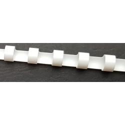 Fourniture reliure anneaux plastiques blanc