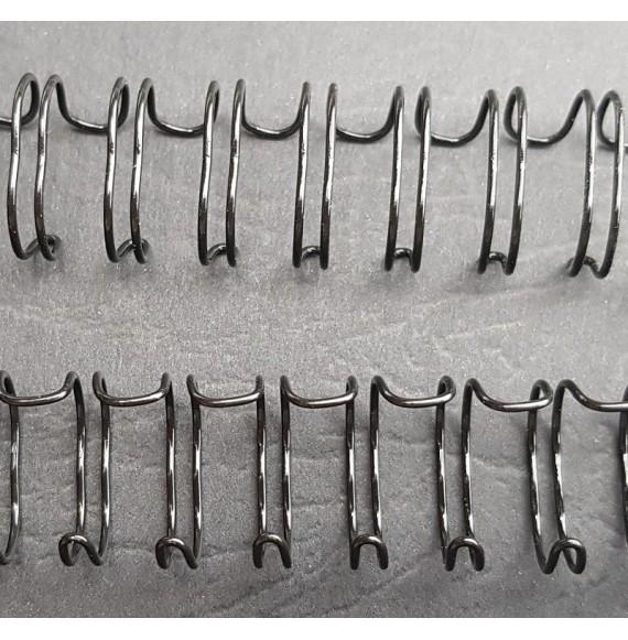 anneaux métalliques A4 blanc