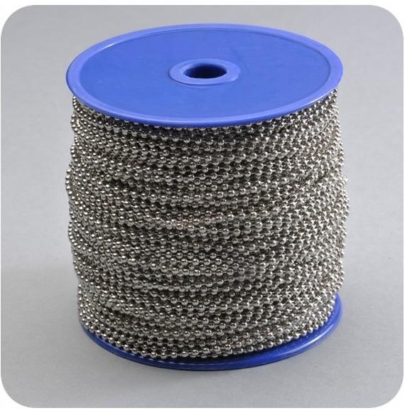 Chaînette en bobine nickel 2.4 mm