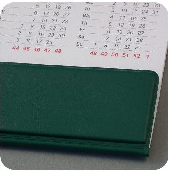 Protection pour calendrier sous main format A2 bleu