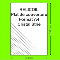 Couverture polypropylène A4 400µ transparent strié