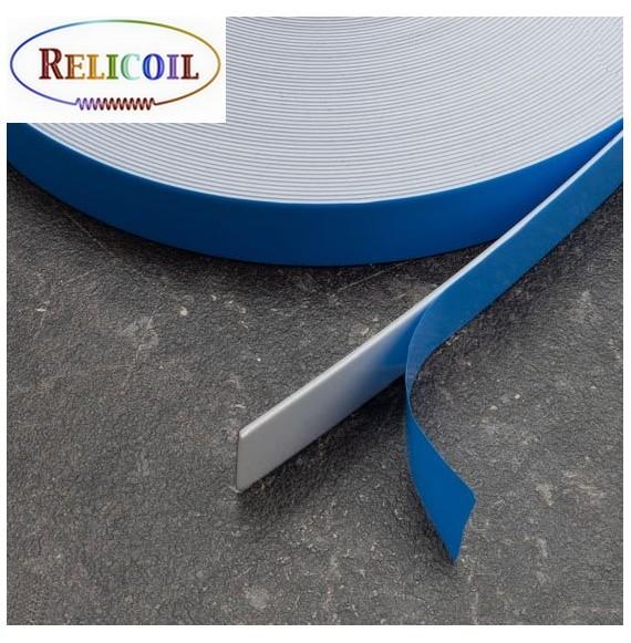 Rouleau métal avec mousse PE auto-adhésive Blanc largeur 20 mm - 30 mètres