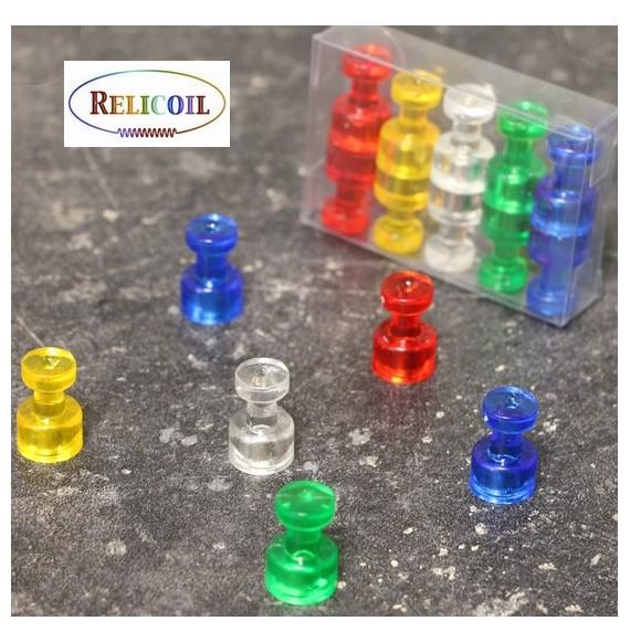 Punaise aimantée de bureau en Néodyne 5 couleurs Assorties Diamètre 10 mm PAR 10