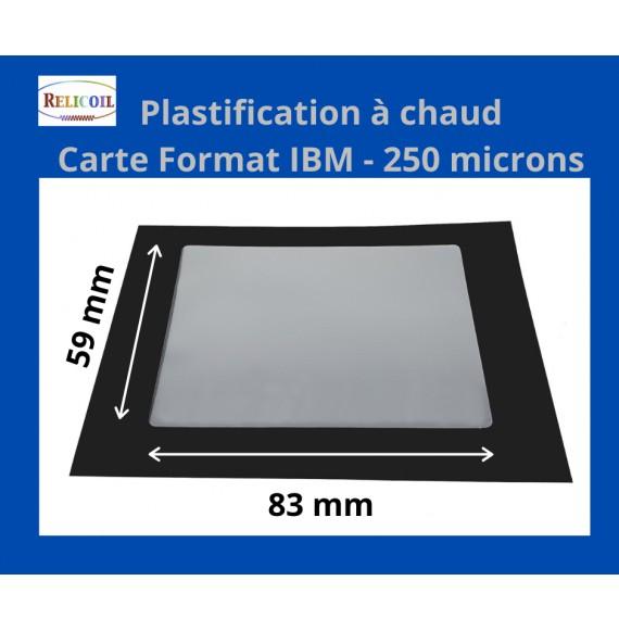 Pochette de plastification IBM 59x83 mm Epaisseur 250µ 2 faces brillantes Boîte de 100