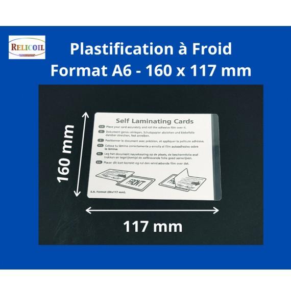 Pochette à plastifier Overlay A6 160 x 117 mm le 100