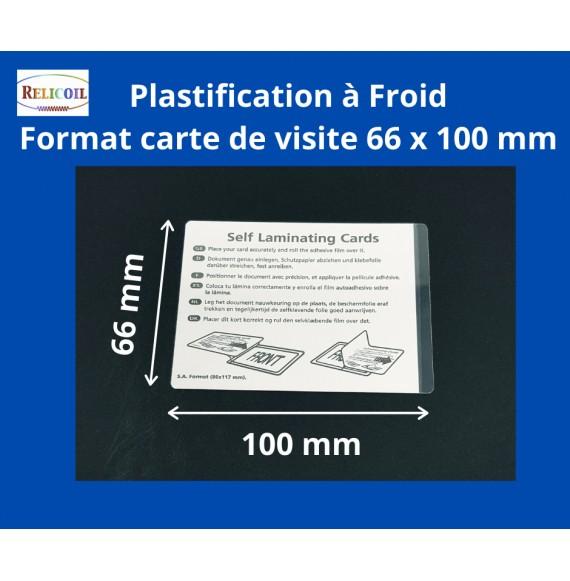 Pochette à plastifier Overlay carte de visite 66 x  100 mm mm le 100