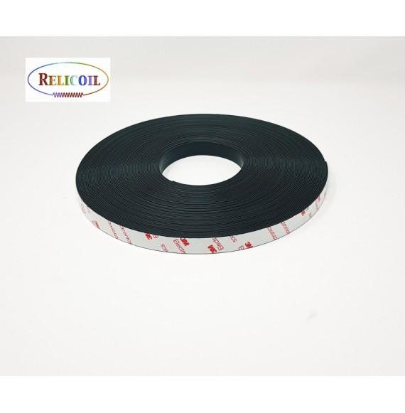 Aimant adhésif 3M 15 mm épais. 1.5 mm - ANI-bobine 30m