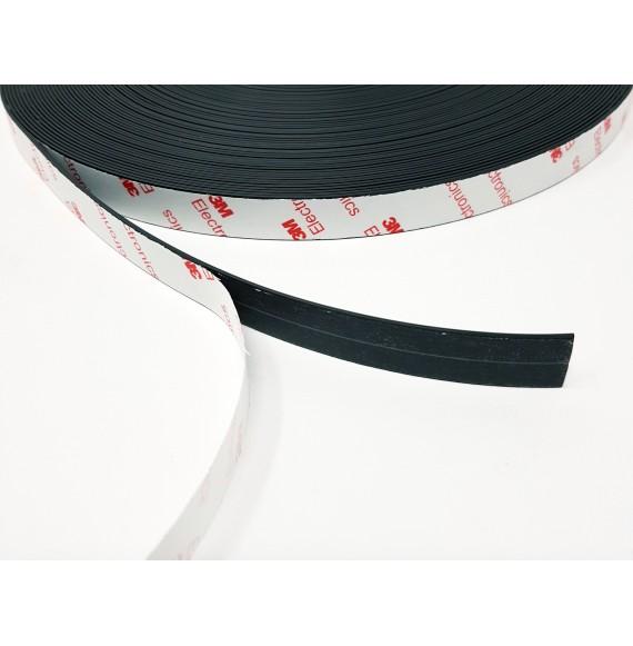 Aimant adhésif 3M 20 mm épais. 1.5 mm - ANI-bobine 30m