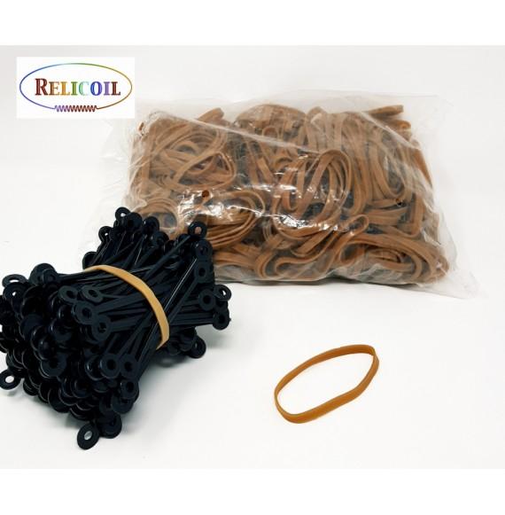 Bracelet élastique 60 mm Marron le sachet de 1 kg