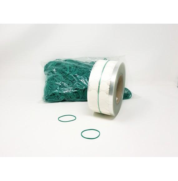 Bracelet élastique 50 mm Vert. le sachet de 1 kg