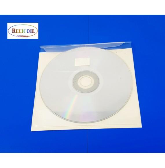 Pochette CD ou DVD adhésive rabat repositionnable par 100
