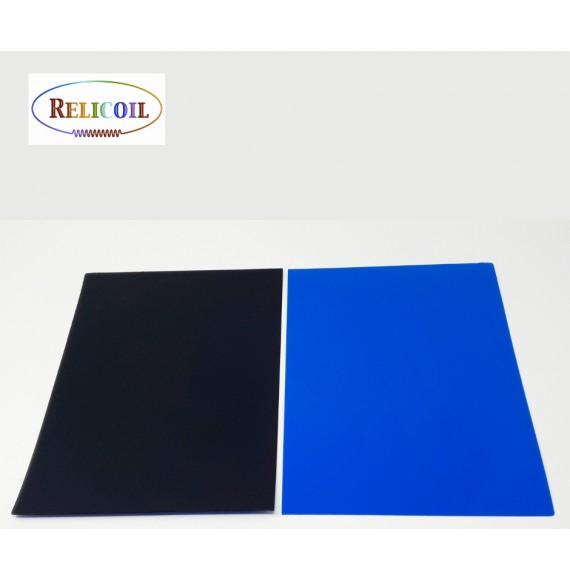 Couvertures polypropylène A4  bicolore RECTO BLEU VERSO NOIR PAR 100