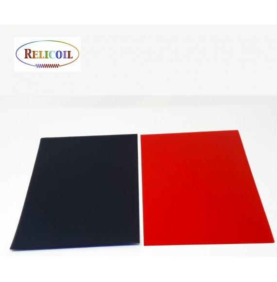 Couvertures polypropylène A4  bicolore RECTO ROUGE VERSO NOIR PAR 100