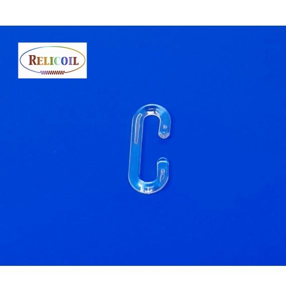 CROCHET C PLASTIQUE TRANSPARENT 38MM PAR 100
