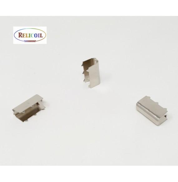 Ferret métal pour élastique boucle 22,3 x 9,2 x 12,8 mm nickel  par 1000