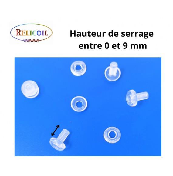 Rivet plastique 0-9 mm avec trou a visser par 1000