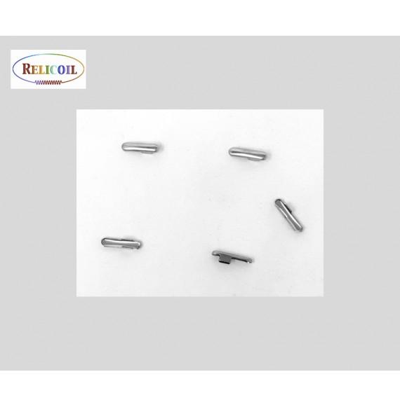 Fermoirs élastique boucle 9 x 4.4  x 5.5 mm nickel  par 1000