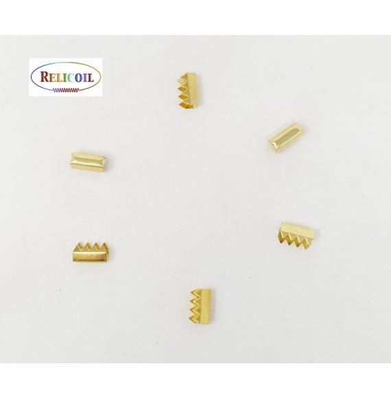 Fermoirs élastique boucle 9 x 4.4  x 5.5 mm laiton